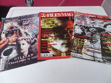 lot 3 revues X-files mag David Duchovny Gillian Anderson Aux frontières du réel