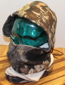 MOOSE RIVER CHAMOIS CO CAMO FULL HUNTING MASK/NECK PROTECTION OSFM CANADA MADE