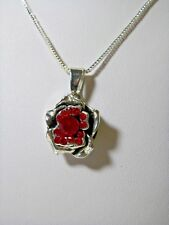 Fits Ginger Snaps Valentine Rose 20mm Interchangeable Snap Charm Necklace N 686