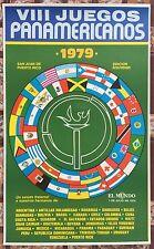 VIII Juegos Panamericanos 1979 El Mundo Cartel Poster Puerto Rico