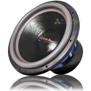 """American Bass 15"""" Competition Subwoofer 4000W Max Power Dual 1 Ohm HD15D1V2"""