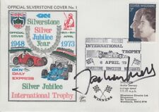 Jochen Mass Hand Signed Silverstone Silver Jubilee Year First Day Cover 4.