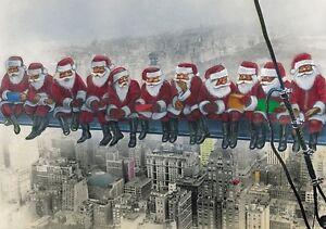 """""""WEIHNACHTSMÄNNER IN NEW YORK"""": Lustige Weihnachtskarten im Set mit Umschlägen"""