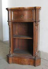 Comodino mobiletto noce 1 cassetto intarsiato epoca 800 Luigi Filippo XIX secolo