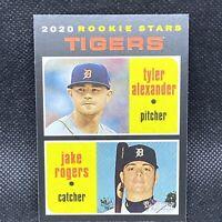 2020 Topps Heritage Tyler Alexander / Jake Rogers RC Rookie Detroit Tigers #39