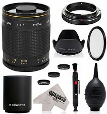 Super 500mm/1000mm f/8 Mirror Telephoto Lens for Fuji Digital Cameras
