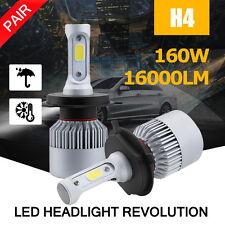 2X Philips H4 160W 16000LM CREE LED HEADLIGHT HB2 9003 6500K WHITE HI-LO BEAM C