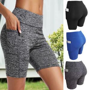 Damen Push Up Sporthosen Fitness Hotpants Kurze Hosen Yoga Shorts Sommer Radhose