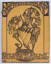 San Francisco Sound Seattle Matthew Katz Concert Poster,  Wallace Studios, 1968