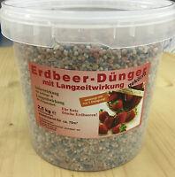 Erdbeer Dünger 2,5Kg im Eimer, NPK Dünger Erdbeere Beere Garten mineral