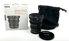 Meike 25mm T2.2 Mini Prime Cinema Lens APS-C Sony E Mount  - NEW USA WARRANTY