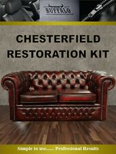 Oxblood Chesterfield Suite / Chair leather restoration kit - See amazing results