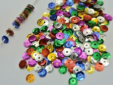 5000 Mixed Color 6mm CUP round loose sequins Paillettes sewing Wedding craft