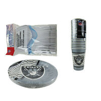 New NFL Oakland Raiders 64 Paper Plates Cups Forks Party-Ware Supplies