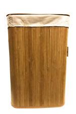 Natural Bamboo Laundry Hamper Basket Storage Bag Bin Organizer Lid by ARPAN