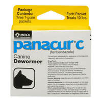 Panacur C Canine Dewormer - Three, 1-Gram Packets