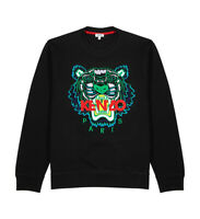 Kenzo Mens Black Tiger-embroidered Cotton Sweatshirt