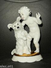 """Rosenthal Porzellan Figur """"Putte mit Hund"""""""