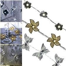 Design LED Lichterkette mit LEDs Blumen Blüten Schmetterlinge für Innen