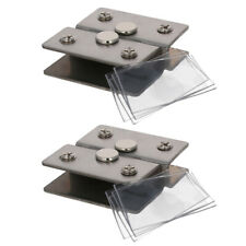 Adjustable Glass Door Hinges Clamp Cabinet Pivot Hinge Clip for 5-12mm Thickness