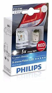 Philips X-treme Vision 12899RX2 LED Red Rouge 1157 P21/5W Brake Light