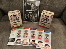 One Direction 1D Ultimate Fan Lot FOUR CD Panini Trading Cards Stickers Dog Tag