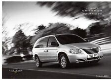 Chrysler Voyager & Grand Voyager Prices & Options 2004-05 UK Market Brochure