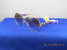 Coach Gold Plum Blush Gradient Aviator Sunglasses HC7063 92638H $160