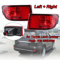 2PC LED Rear Bumper Tail Fog Light Lamp For Toyota Land Cruiser Prado J120 02-09