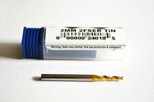 2mm Carbide End Mill Slot Drill Milling Cutter - 2 Flute (TiN)