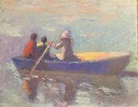 Central Park NY landscape seascape oil painting children color Impressionism art
