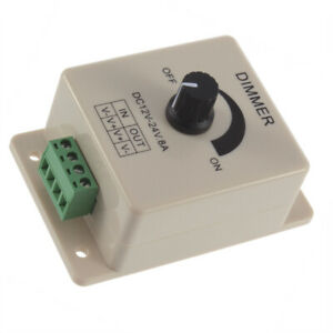 PWM Dimmer Adjustable Switch Brightness Controller for LED Strip Ribbon12-24V 8A