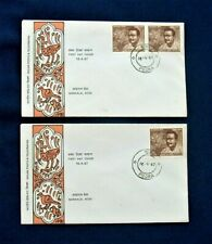Two 1967 India 'Nandalal Bose' FDC Stamps Series - Poona Postmarks