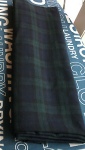 Prince Of Wales Check Classic Wool Cotton Viyella Fabric 2.4m X 114Cms