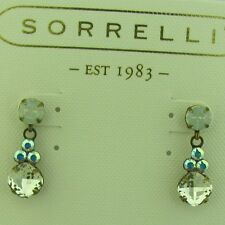 Ecd3Agwbr antique gold tone Sorrelli White Bridal Earrings