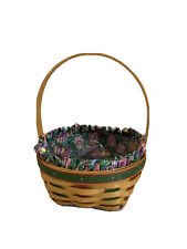 Longaberger 1999 Small Easter Basket w/Liner & Protector