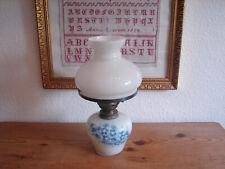 Pequeño, Antiguo Lámpara de Petróleo, Tipo Vidrio, Pintado a Mano, Flores, 38cm,