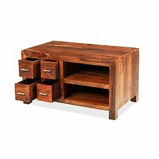 Taj solid sheesham furniture TV DVD cabinet stand unit