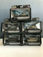 Forces Of Valor 5 Tanks Collection Die Cast Metal Combat Proven Machines Set LOT