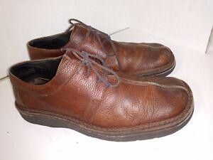 Banana Republic Brown Leather Split Toe Casual Oxfords Mens Size 12 D