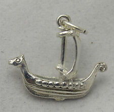 MOVING STERLING SILVER VIKING SHIP CHARM