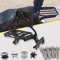 Fit 84-05 Harley Heritage Softail FLS Detachable Sissy Bar Sport Luggage Rack