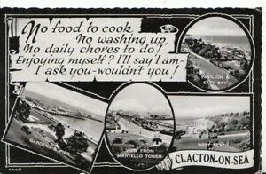 Essex Postcard - Views of Clacton-on-Sea - Ref TZ5891