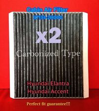 x2 C35660 CHARCOAL CARBONIZED CABIN AIR FILTER for Accent Elantra / Forte 49377