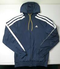 Adidas Mens Full Zip Activewear Hoodie Large Navy Blue
