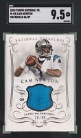 Cam Newton 2014 Panini National Treasures Materials /49 SGC 9.5 Mint+