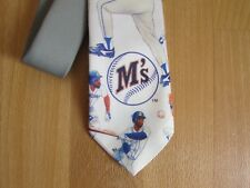 Original Los Marineros M temprana Ralph Marlin béisbol 1991 Corbata Made In Usa
