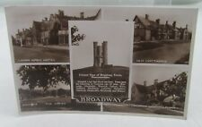BROADWAY WORCESTERSHIRE REAL PHOTOGRAPH VINTAGE 1940s POSTCARD MARY NAVARRO ETC*