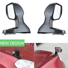 Auto Car Exterior Mirrors Blind Spot Flat Wide Angle Hood Rear View Mirror Black