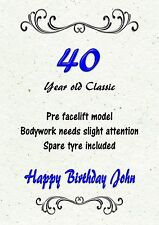 Personalised Handmade Birthday Card - Male/Men 40th 50th 60th 70th 80th ANY AGE